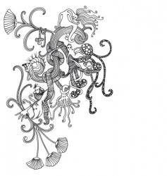 fantasy doodle vector image