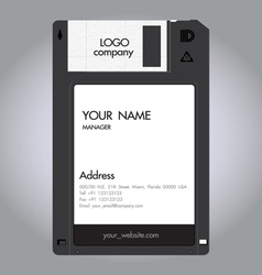 Floppy disc namecard vector