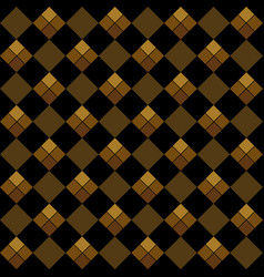 gold argyle seamless pattern vector image