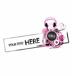 grunge headphones design vector image