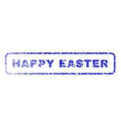 happy easter rubber stamp vector image