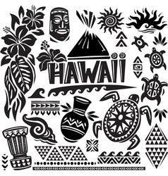 Hawaii Set vector image vector image