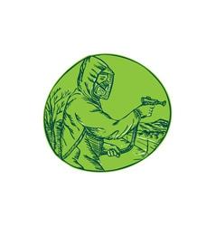 Herbicide Pesticide Control Exterminator Spraying vector image