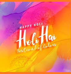 Holi festival colorful greeting background vector