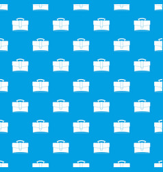 leather briefcase pattern seamless blue vector image vector image