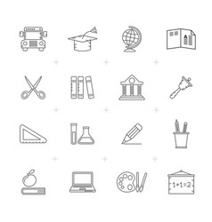 line education and school icons vector image