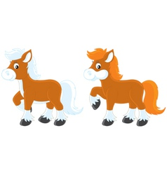 Little ponies vector
