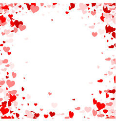 Love valentines background with hearts vector