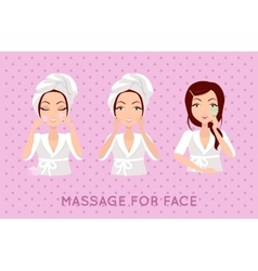 Massage for face set vector