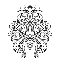 Ornate paisley floral element vector