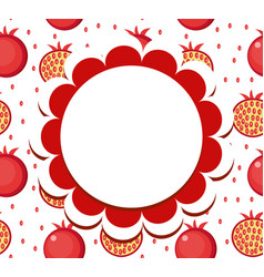 pomegranate label wrapper template for your vector image