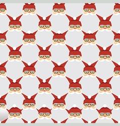 Santa seamless pattern vector image vector image