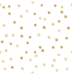 Seamless scattered shiny golden glitter polka dot vector