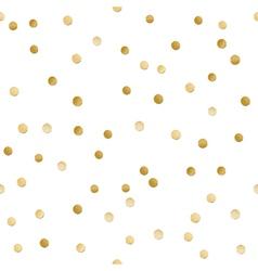 Seamless scattered shiny golden glitter polka dot vector