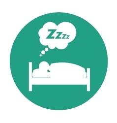 Sleeping person design vector