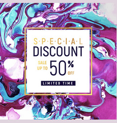 Special discount square banner template with vector