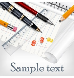 Stationery for school vector image
