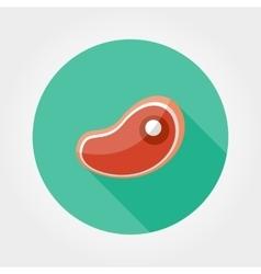 Steak icon flat vector