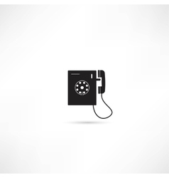Telephone icon isolated vector image vector image