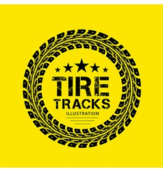 Tire Track 04 vector image vector image