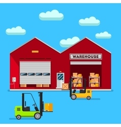 Warehouse infographic flat design vector image vector image