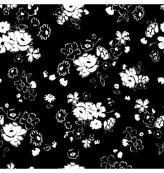 White isolated flowers on a dark background vector
