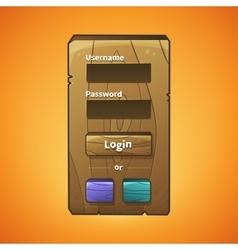 Wooden menu vector