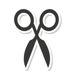 Scissors school supply icon vector