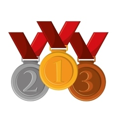Isolated gold medal design vector image
