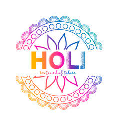 Festival of colors holi celebration background vector