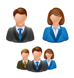 Business people avatar people icon vector
