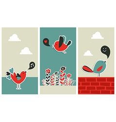 Fresh social media birds communication vector