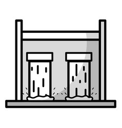Line water tank to reserve and ecology care vector