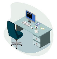 Workplace concept isometric vector
