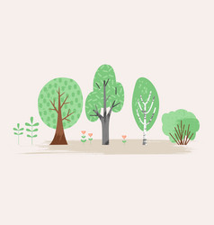 Stylized of plant trees bush vector