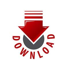 Logo red arrow download vector