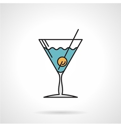 Cocktail flat color icon vector