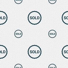 Sold icon sign seamless pattern with geometric vector