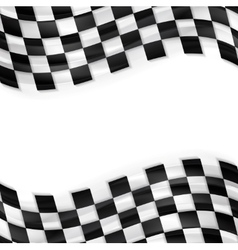 Finish wavy flag design black and white squares vector