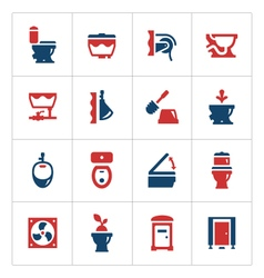 Set color icons of toilet vector