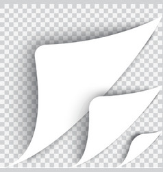 The bent page corner The white sheet on a vector image