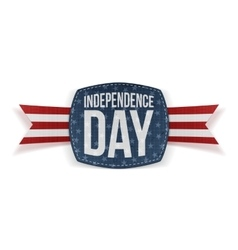 Independence day realistic banner with type vector