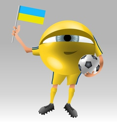 Football ukraine fan eyeball vector