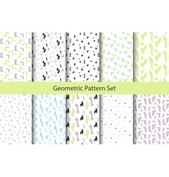 Abstract geometric shapes white pattern set vector