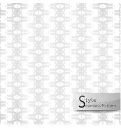 abstract seamless pattern flower row white vector image vector image