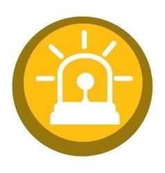 Alarm siren isolated icon vector