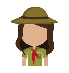 Avatar girl wearing colorful clothes and hat vector