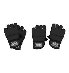 Black martial arts gloves vector
