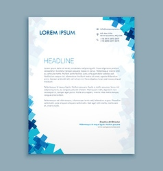 Business style corporate letterhead design vector