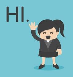 Business Woman Hi vector image vector image